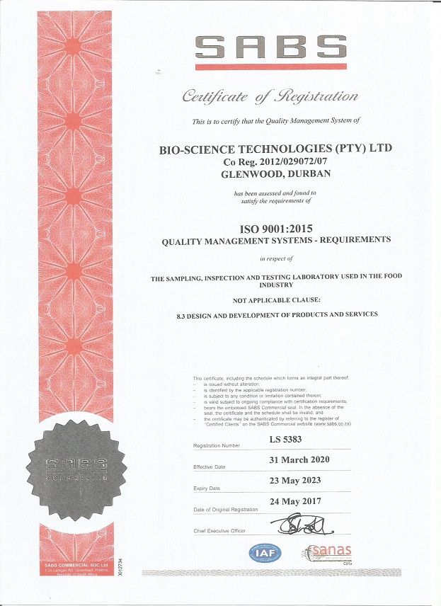 SABS 9001 Certification