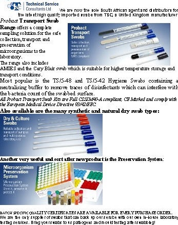 TSC Swabs article